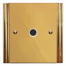 Plaza Flex Outlet Polished Brass Lacquered & White Trim