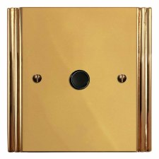 Plaza Flex Outlet Polished Brass Lacquered & Black Trim