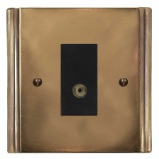 Plaza TV Socket Outlet Hand Aged Brass