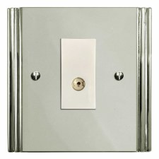 Plaza TV Socket Outlet Polished Nickel