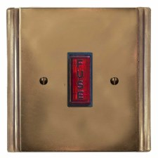 Plaza Fused Spur Connection Unit Illuminated Indicator Hand Aged Brass