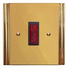 Plaza Fused Spur Connection Unit Illuminated Indicator Polished Brass Unlacquered