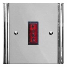 Plaza Fused Spur Connection Unit Illuminated Indicator Polished Chrome & Black Trim