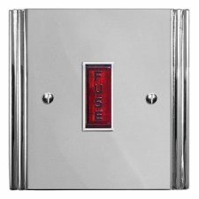 Plaza Fused Spur Connection Unit Illuminated Indicator Polished Chrome & White Trim