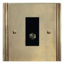 Plaza Satellite Socket Antique Satin Brass