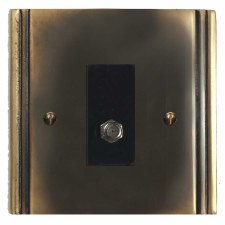 Plaza Satellite Socket Dark Antique Relief