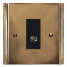 Plaza Satellite Socket Hand Aged Brass