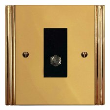 Plaza Satellite Socket Polished Brass Unlacquered