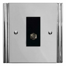 Plaza Satellite Socket Polished Chrome & Black Trim