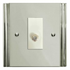 Plaza Satellite Socket Polished Nickel