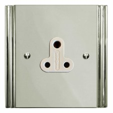 Plaza Lighting Socket Round Pin 5A Polished Nickel