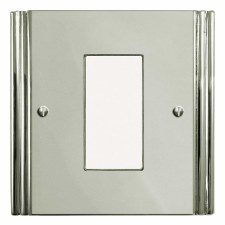 Plaza Plate for Modular Electrical Components 50x25mm Polished Nickel