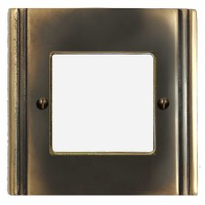 Plaza Plate for Modular Electrical Components 50x50mm Dark Antique Relief