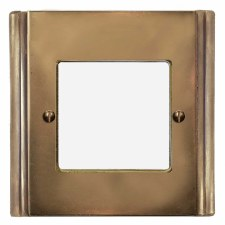 Plaza Plate for Modular Electrical Components 50x50mm Hand Aged Brass