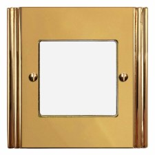 Plaza Plate for Modular Electrical Components 50x50mm Polished Brass Unlacquered
