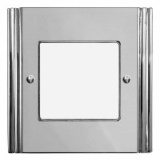 Plaza Plate for Modular Electrical Components 50x50mm Polished Chrome