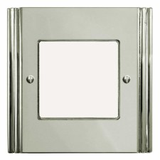 Plaza Plate for Modular Electrical Components 50x50mm Polished Nickel