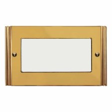 Plaza Plate for Modular Electrical Components 50x100mm Polished Brass Unlacquered