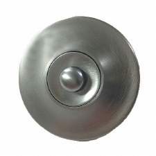 Aston Plain Circular Door Bell Push Satin Chrome