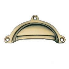 Armac Cotswold Drawer Pull Handle 98mm Polished Brass Lacquered