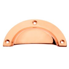 Plain Drawer Pull Polished Copper