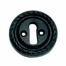 Round Black Escutcheon