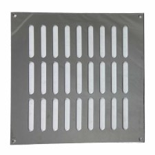 "Plain Slotted Air Vent 8"" x 8"" Polished Chrome"
