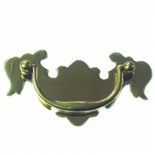 Armac Plain Plate Handle 102mm Polished Brass Lacquered