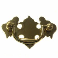 Armac Plain Plate Handle 64mm Polished Brass Lacquered