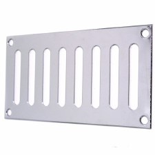 "Plain Slotted Air Vent 6"" x 3"" Polished Chrome"