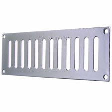"Plain Slotted Air Vent 9"" x 3"" Polished Chrome"
