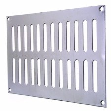 "Plain Slotted Air Vent 9"" x 6"" Polished Chrome"