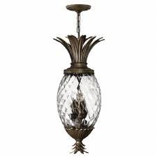 Hinkley Plantation Pineapple Ceiling Pendant Light Pearl Bronze