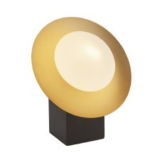 Plush 1 Light Globe Table Lamp Gold & Dark Bronze