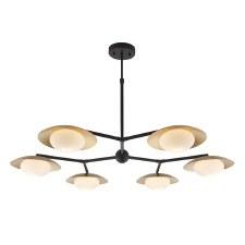 Plush 6 Light Globe Pendant Gold & Dark Bronze