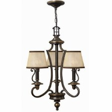 Hinkley Plymouth 3 Arm Chandelier