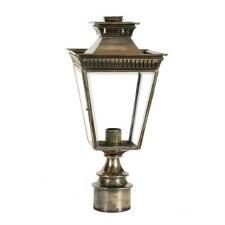"Pogoda Lamp Post Head to suit 2"" dia. Light Antique Brass"