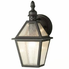 Elstead Polruan Outdoor Wall Light Lantern Black
