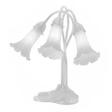 Pond Lily Table Lamp White Shades