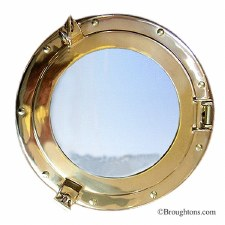 Porthole Mirror 20cm Polished Brass