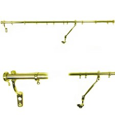 Rising Portiere Rod Polished Brass Unlacquered