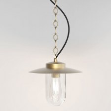 Portree Pendant Light Coastal Range Natural Brass