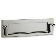 "Croft Postal Knocker 10""x3"" Polished Nickel"