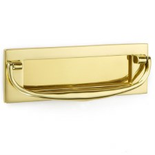 "Croft Postal Knocker 8""x2.75"" Polished Brass Unlacquered"