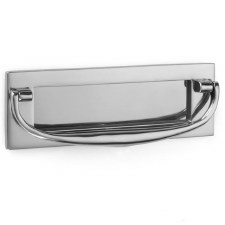 "Croft Postal Knocker 8""x2.75"" Polished Chrome"
