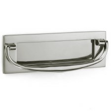 "Croft Postal Knocker 8""x2.75"" Polished Nickel"