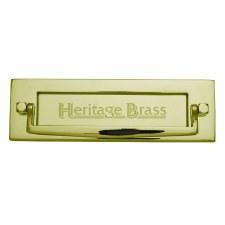 Heritage Postal Knocker V830 Polished Brass Lacquered