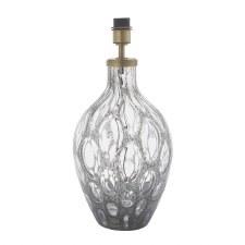 Poundbury Glass Table Lamp Base Champagne Glass & Matt Antique Brass
