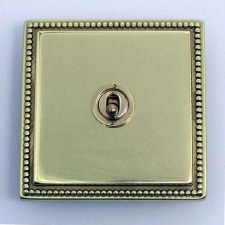 Regency Dolly Switch 1 Gang Polished Brass Unlacquered