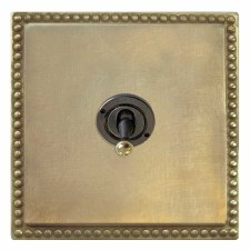 Regency Dolly Switch 1 Gang Antique Satin Brass